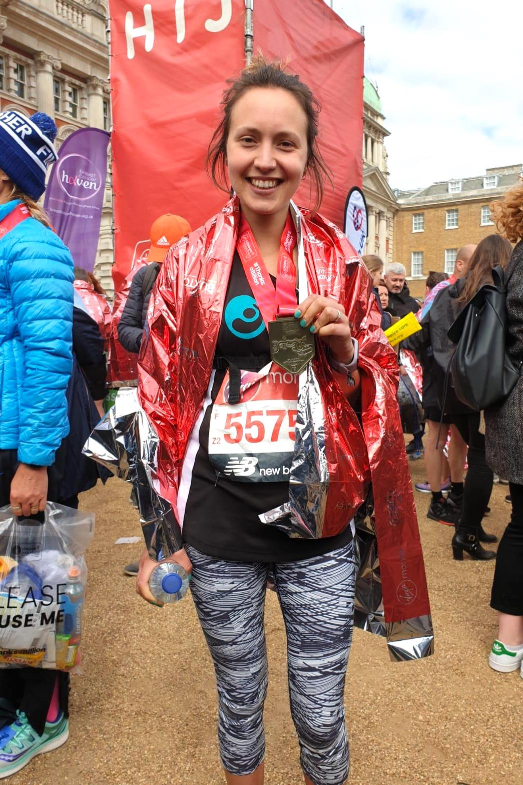Hannah ran a marathon to raise money for Joanna Project